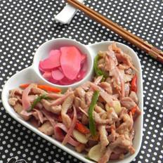梅渍仔姜炒肉丝的做法