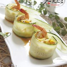 鲜虾拌杂蔬的做法