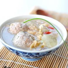 蛤蜊冬瓜肉丸汤的做法