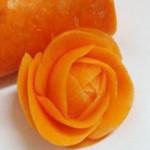 一分钟用萝卜雕成月季花