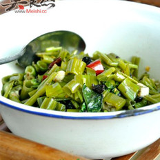 豆豉空心菜梗的做法