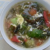 紫菜蛋花柿子汤