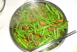 辣椒鸡肾炒豆角的做法