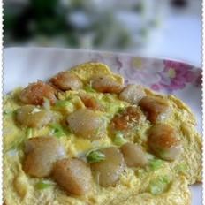 油煎粽子包蛋的做法
