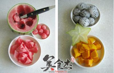 西瓜水果捞的做法