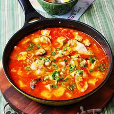 番茄黑鱼豆腐汤的做法