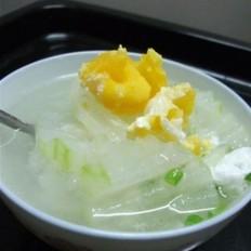 节瓜咸蛋瘦肉汤
