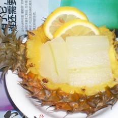 蜜罐冬瓜菠萝盅的做法