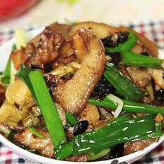豆豉酸菜丝爆猪头肉