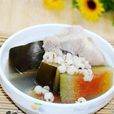 西瓜皮生熟薏米猪踭汤的做法