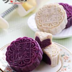 白芸豆桂花紫薯月饼的做法
