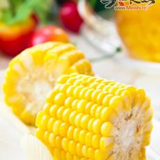 清煮甜玉米和养生龙须茶的做法