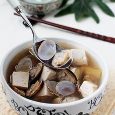 龙井蛤蜊豆腐汤的做法