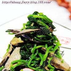椒香菠菜肝的做法