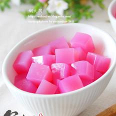 自制纯天然彩色凉粉的做法