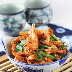 豉香江虾炒韭菜的做法