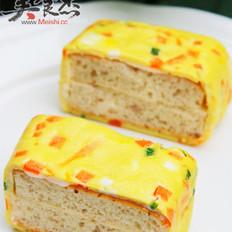 蛋皮烤肉面包