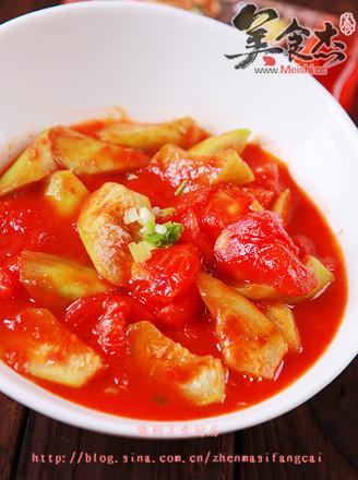 蕃茄炒丝瓜