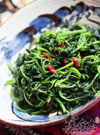枸杞绿米苋的做法