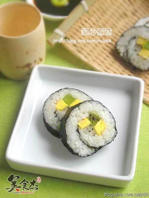 【图】绿茶水果寿司