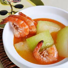 鲜虾炖冬瓜的做法