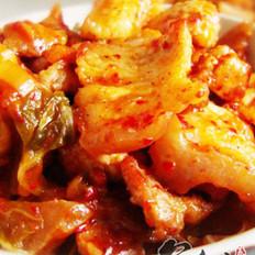 韩国泡菜炒五花肉的做法