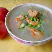 冬瓜毛豆虾干汤