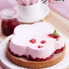 草莓慕斯杏仁塔