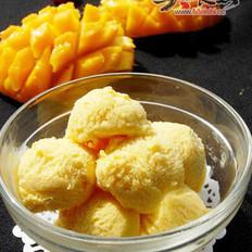 芒果冰淇林的做法