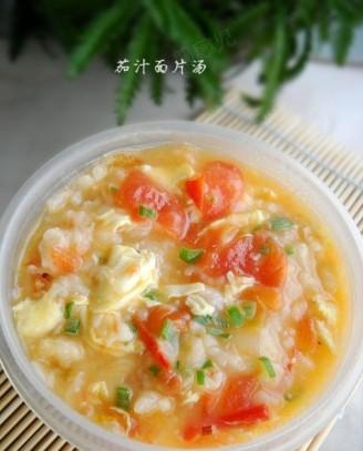 茄汁面片汤的做法