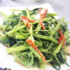椒丝腐乳炒通菜