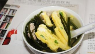 海带蛋丝汤的做法