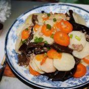 炒山药胡萝卜片