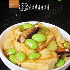 毛豆香菇烧豆腐