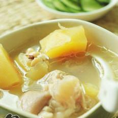 木瓜眉豆猪蹄汤