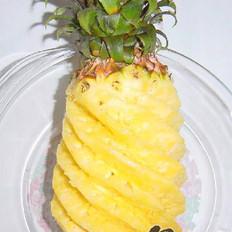 巧削菠萝的做法
