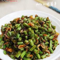 豇豆炒虾皮的做法