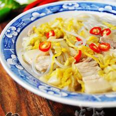 酸菜白肉炖粉条的做法