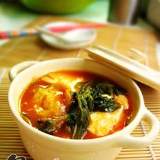 香辣白菜豆腐煲的做法