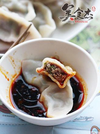 菊花叶猪肉饺的做法