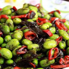 橄榄菜炒毛豆的做法