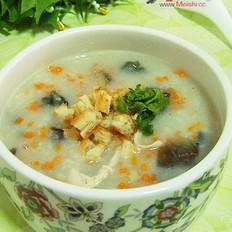 鸡丝皮蛋蛤蜊干大米粥