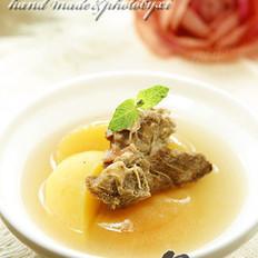 苹果杏肉沙骨汤
