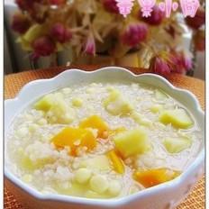 苹果玉米南瓜炒米粥的做法