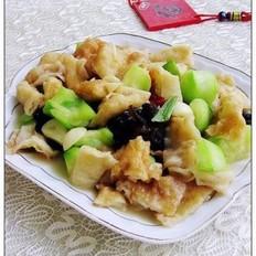 丝瓜炒面鱼
