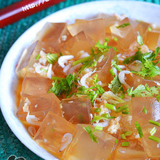 虾皮拌凉粉的做法