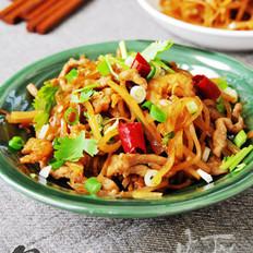 肉丝海米炒疙瘩丝的做法