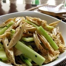 青瓜拌腐竹