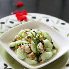 冰爽黄瓜拌淡菜的做法