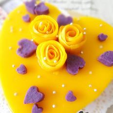 芒果紫薯慕斯蛋糕